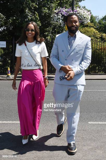 Chiwetel Ejiofor arrives at Wimbledon Tennis for Men's Final Day on July 15 2018 in London England