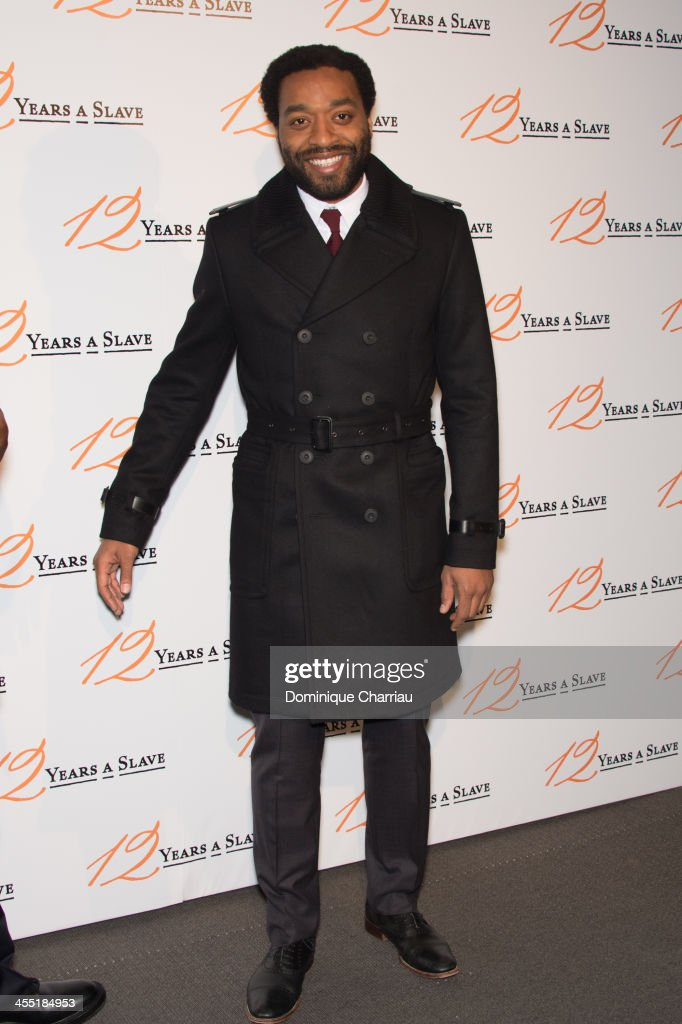 Chiwetel Ejiofor attends the '12 Years A Slave' Paris premiere at Cinema UGC Normandie on December 11, 2013 in Paris, France.