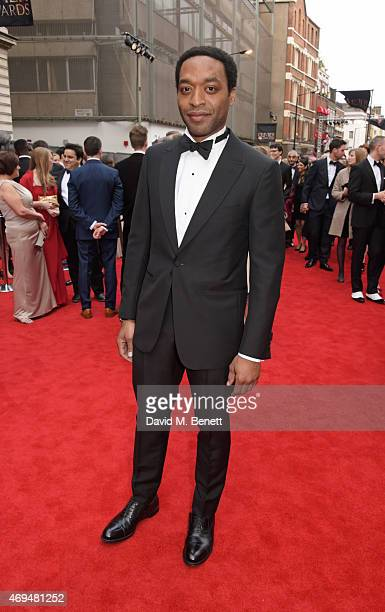 Chiwetel Ejiofor attends The Olivier Awards at The Royal Opera House on April 12 2015 in London England
