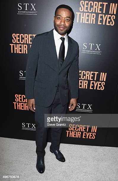Chiwetel Ejiofor attends the Premiere of STX Entertainment's 'Secret In Their Eyes' at the Hammer Museum on November 11 2015 in Westwood California