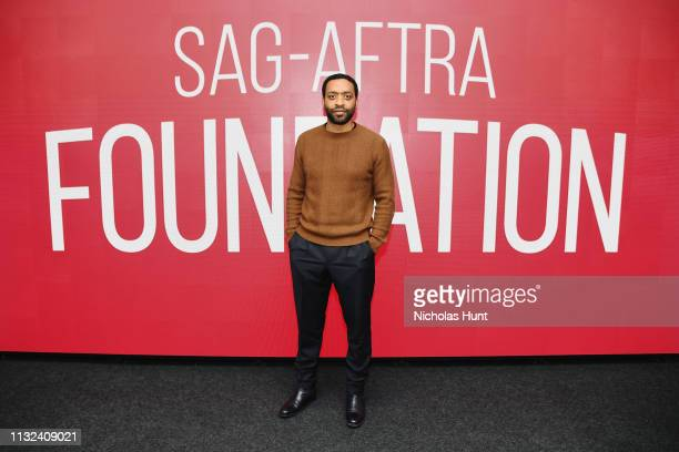 Chiwetel Ejiofor attends the SAGAFTRA Foundation Conversations The Boy Who Harnessed The Wind at The Robin Williams Center on February 26 2019 in New...