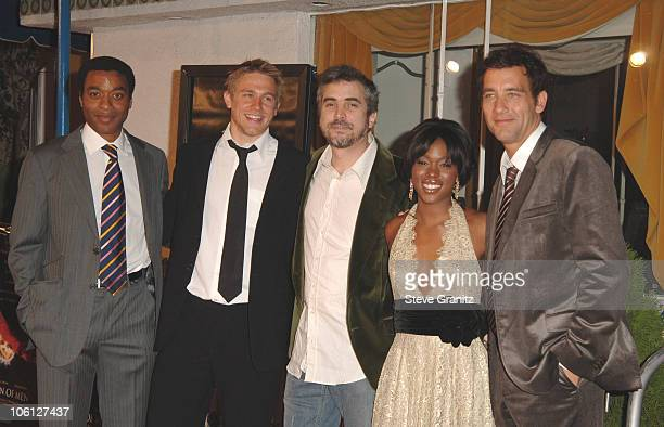 Chiwetel Ejiofor Charlie Hunnam Director Alfonso Cuaron ClareHope Ashitey and Clive Owen