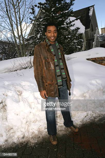 Chiwetel Ejiofor during 2006 Sundance Film Festival 'Kinky Boots' Outdoor Portraits in Park City Utah United States