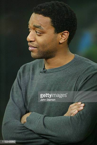 Chiwetel Ejiofor during Joel Edgerton and Chiwetel Ejiofor Visit 'Sunrise' February 23 2006 at Channel 7 Studios in Sydney NSW Australia