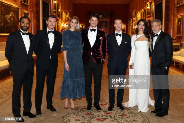 Chiwetel Ejiofor, Luke Evans, Tamsin Egerton, Josh Hartnett, Benedict Cumberbatch, Amal Clooney and George Clooney attend a dinner to celebrate The...