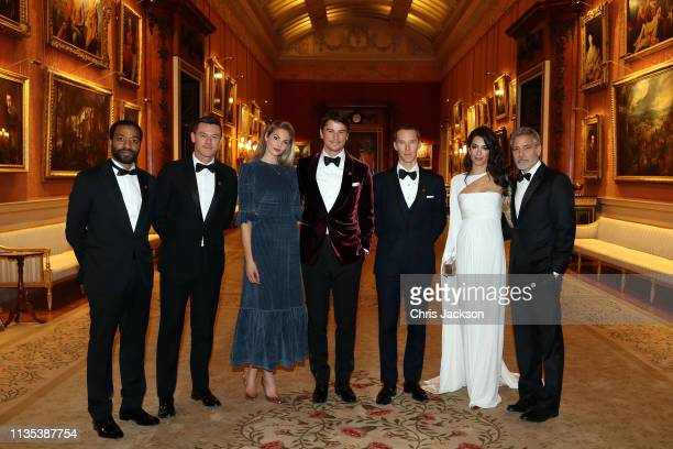 Chiwetel Ejiofor Luke Evans Tamsin Egerton Josh Hartnett Benedict Cumberbatch Amal Clooney and George Clooney attend a dinner to celebrate The...