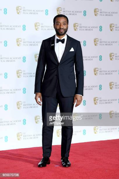 Chiwetel Ejiofor poses in the press room during the EE British Academy Film Awards held at Royal Albert Hall on February 18 2018 in London England
