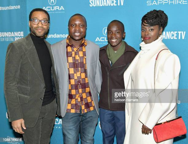 Chiwetel Ejiofor William Kamkwamba Maxwell Simba and Aissa Maiga attend Salt Lake Opening Night Screening Of The Boy Who Harnessed The Wind Presented...