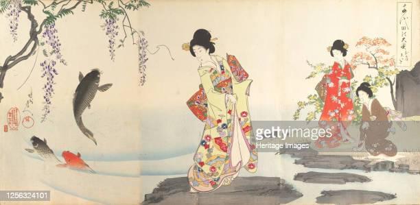 Chiyoda Castle , 1895. Artist Chikanobu Yoshu.