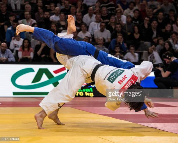 Chizuru Arai of Japan here throws Rio Olympic bronze medallist Sally Conway of Great Britain for a wazari Conway came back to defeat the reigning...