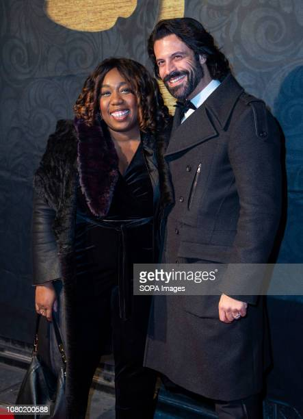 Chizzy Akudolu and Christian Vit attend the 2019 Gold Movie Awards at Regent Street Cinema in London England