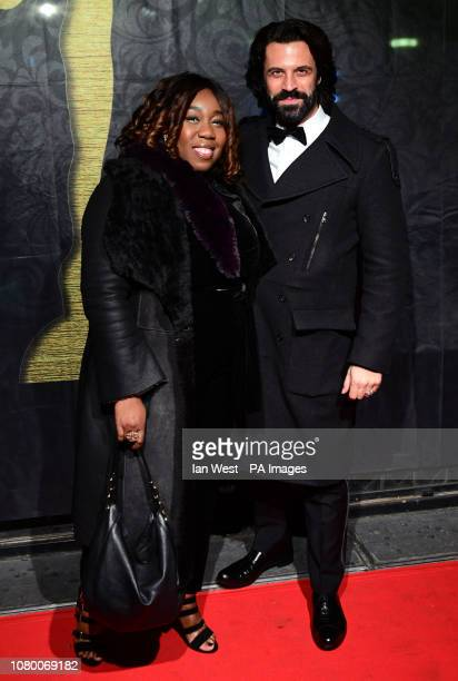 Chizzy Akudolu and Christian Vit attending the Gold Movie Awards 2019 held at Regent Street Cinema in Marylebone London