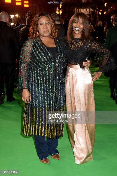 Chizzy Akudolu and Oti Mabuse attend the 'Jumanji Welcome To The Jungle' UK premiere held at Vue West End on December 7 2017 in London England