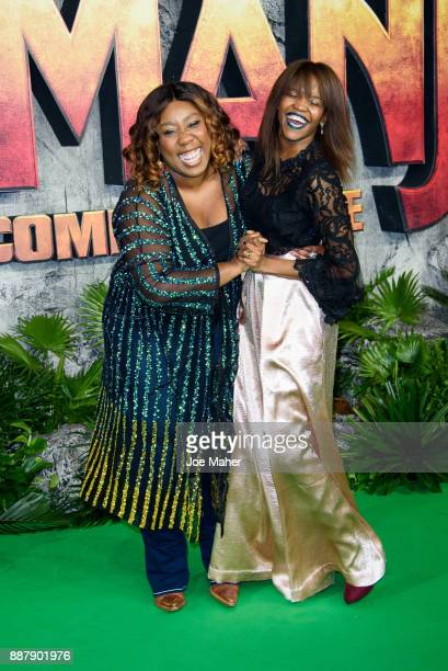 Chizzy Akudolu and Oti Mabuse attend the 'Jumanji Welcome To The Jungle UK premiere held at Vue West End on December 7 2017 in London England