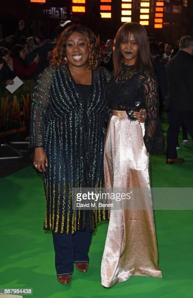 Chizzy Akudolu and Oti Mabuse attend the UK Premiere of Jumanji Welcome To The Jungle at Vue West End on December 7 2017 in London England