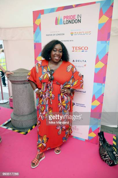 Chizzy Akudolu at Trafalgar Square during Pride In London on July 7 2018 in London England It is estimated over 1 million people will take to the...