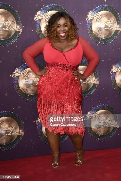 Chizzy Akudolu attends the 'Strictly Come Dancing 2017' red carpet launch at The Piazza on August 28 2017 in London England