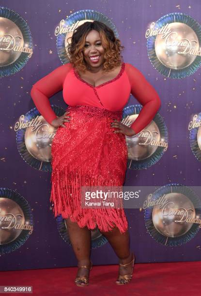 Chizzy Akudolu attends the 'Strictly Come Dancing 2017' red carpet launch at Broadcasting House on August 28 2017 in London England
