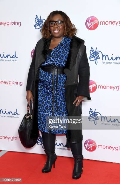 Chizzy Akudolu attends the Virgin Money Giving Mind Media Awards 2018 at Queen Elizabeth Hall on November 29 2018 in London England