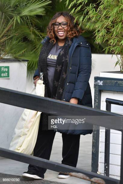 Chizzy Akudolu seen at ther ITV Studios on March 20 2018 in London England