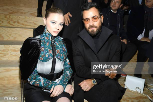 Chloë Grace Moretz and Justin Theroux attend the Louis Vuitton Womenswear Spring/Summer 2020 show as part of Paris Fashion Week on October 01, 2019...