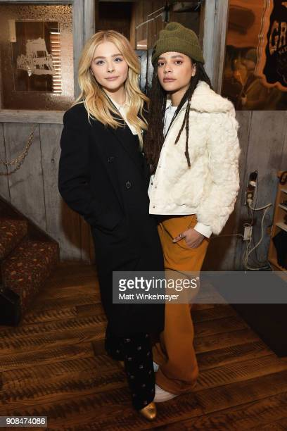 Chloë Grace Moretz and Sasha Lane attend Outfest Queer Brunch at Sundance Presented By DIRECTV NOW and ATT Hello Lab during the 2018 Sundance Film...