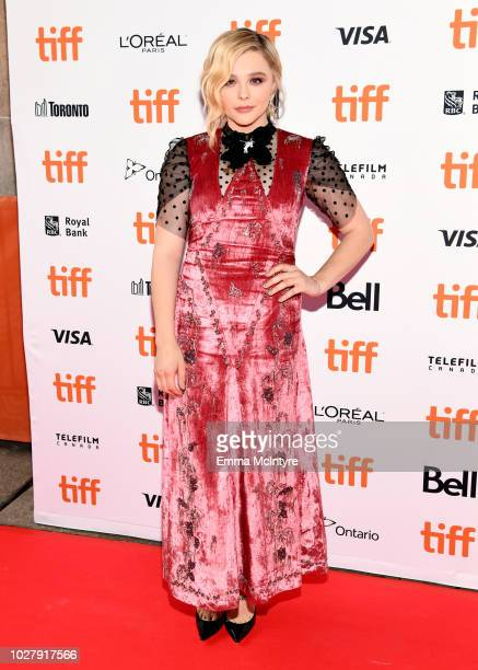 Chloë Grace Moretz attends the Greta premiere during the 2018 Toronto International Film Festival at Ryerson Theatre on September 6 2018 in Toronto...
