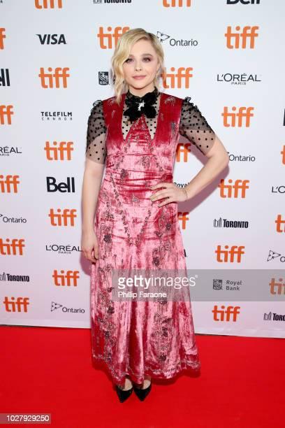 Chloë Grace Moretz attends the Greta premiere during the 2018 Toronto International Film Festival at Ryerson Theatre on September 6 2018 in Toronto...