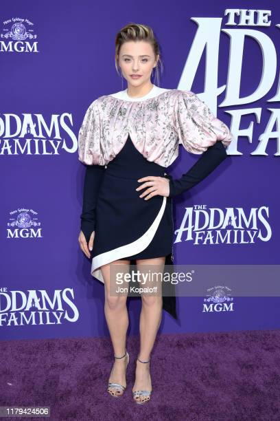 Chloë Grace Moretz attends the Premiere of MGM's 'The Addams Family' at Westfield Century City AMC on October 06, 2019 in Los Angeles, California.