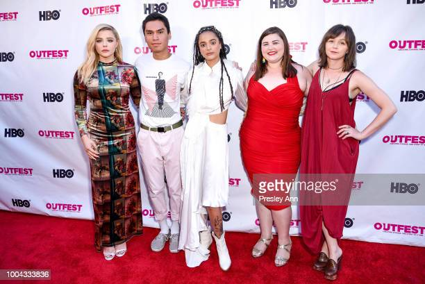 Chlo' Grace Moretz Forrest Goodluck Sasha Lane Melanie Ehrlich Emily Skeggs attend 2018 Outfest Los Angeles LGBT Film Festival Closing Night Gala Of...