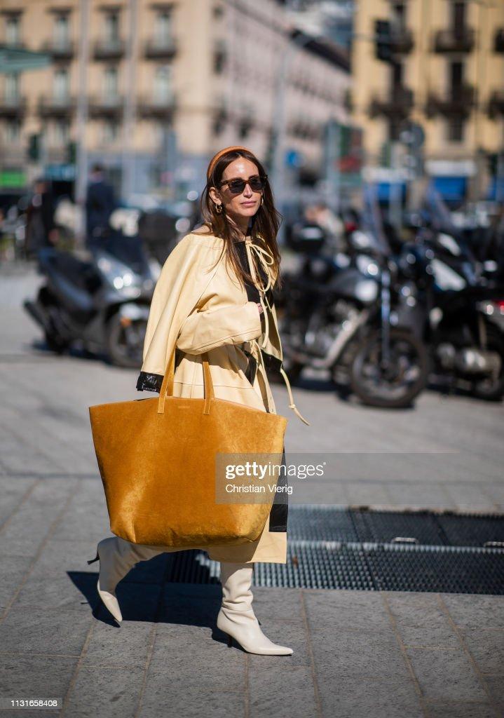 Street Style - Day 3: Milan Fashion Week Autumn/Winter 2019/20 : Photo d'actualité