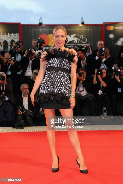 Chloè Sevigny walks the red carpet ahead of the 'At Eternity's Gate' screening during the 75th Venice Film Festival at Sala Grande on September 3...