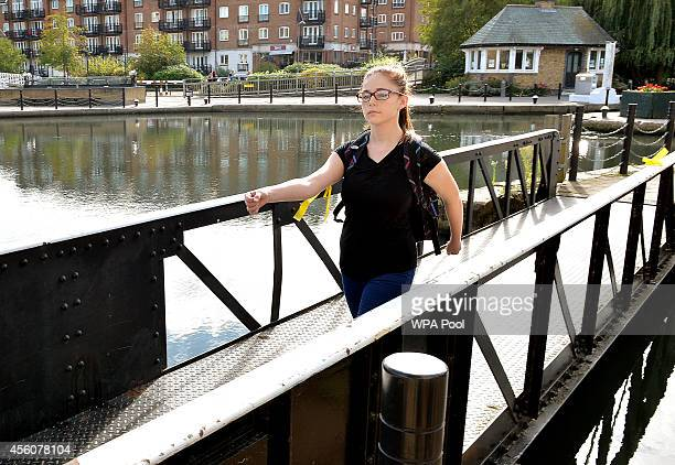 Chloe a 17yearold police cadet walks across the bridge at the Brentford Locks as she reconstructs the last known movements of missing schoolgirl...