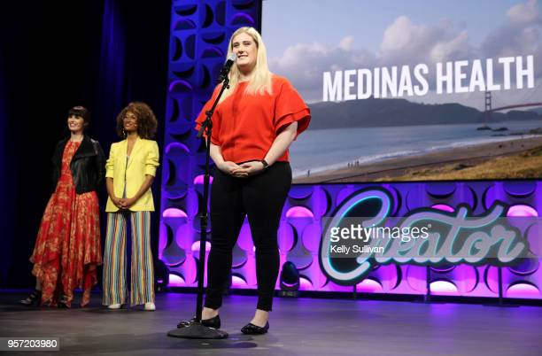 Chloe Alpert pitches at the WeWork San Francisco Creator Awards at Palace of Fine Arts on May 10 2018 in San Francisco California