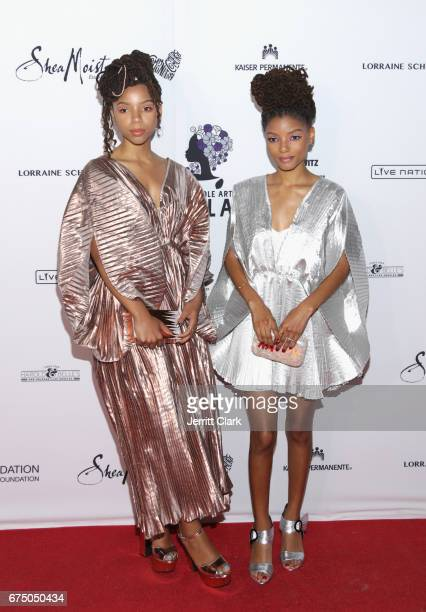 Chloe and Halle attend the Wearable Art Gala Arrivals at California African American Museum on April 29 2017 in Los Angeles California