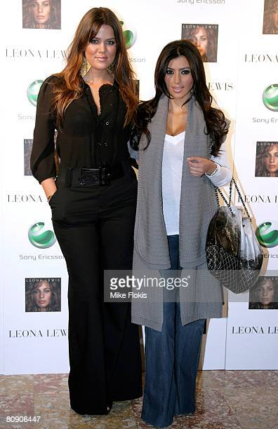 Chloe and Kim Kardashian attend the Leona Lewis press conference at the Museum of Contemporary Art on April 29 2008 in Sydney Australia