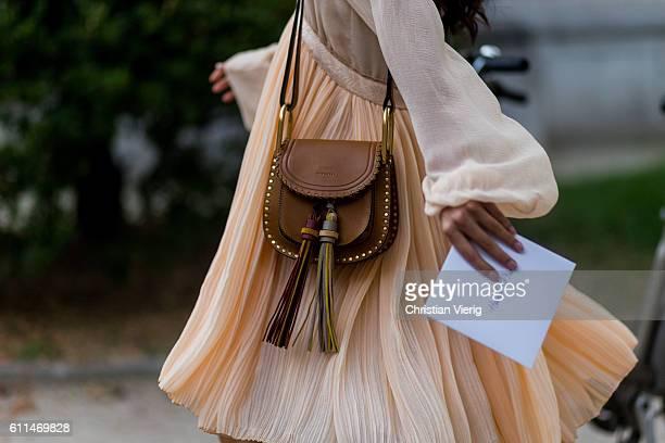Chloe bag outside Chloe on September 29 2016 in Paris France