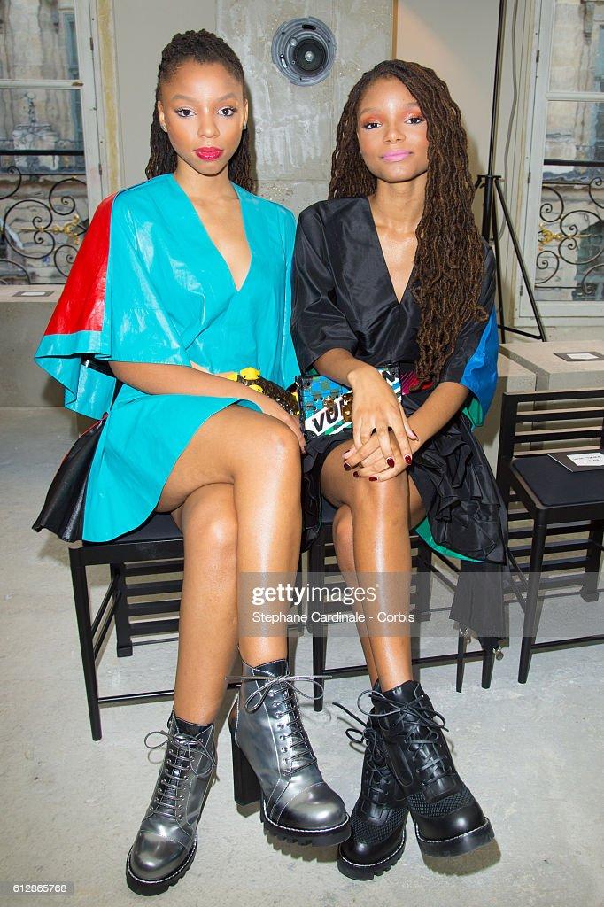 Louis Vuitton : Front Row- Paris Fashion Week Womenswear Spring/Summer 2017 : News Photo