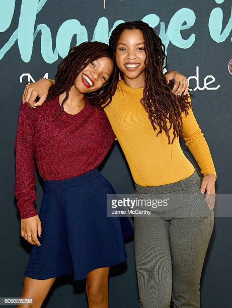 Chloe Bailey and Halle Bailey attend Change is Made with Code event on September 20 2016 in New York City