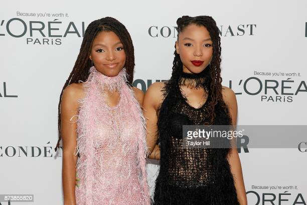 Chloe Bailey and Halle Bailey attend the 2017 Glamour Women of the Year Awards at Kings Theatre on November 13 2017 in New York City