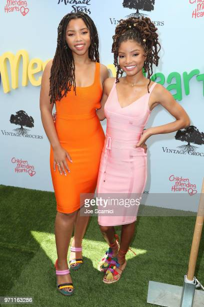 Chloe Bailey and Halle Bailey attend the Children Mending Hearts' 10th Annual Empathy Rocks Fundraiser at Private Residence on June 10 2018 in Bel...