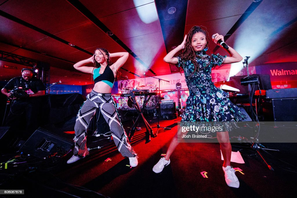 Chloe Bailey and Halle Bailey of Chloe x Halle perform onstage at the 2017 Essence Festival at the Mercedes-Benz Superdome on July 2, 2017 in New Orleans, Louisiana.