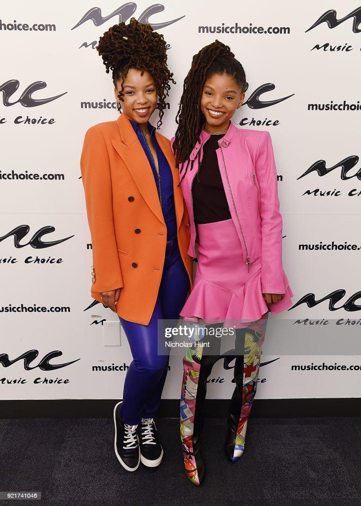 Chloe & Halle Visit Music Choice