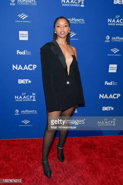 Chloe Bailey attends the 51st NAACP Image Awards nontelevised Awards Dinner on February 21 2020 in Hollywood California