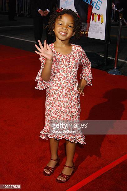 Chloe Bailey during The Fighting Temptations Premiere at Mann's Chinese Theatre in Hollywood California United States