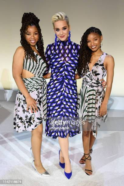 Chloe Bailey Katy Perry and Halle Bailey attend 10th Annual DVF Awards at Brooklyn Museum on April 11 2019 in New York City