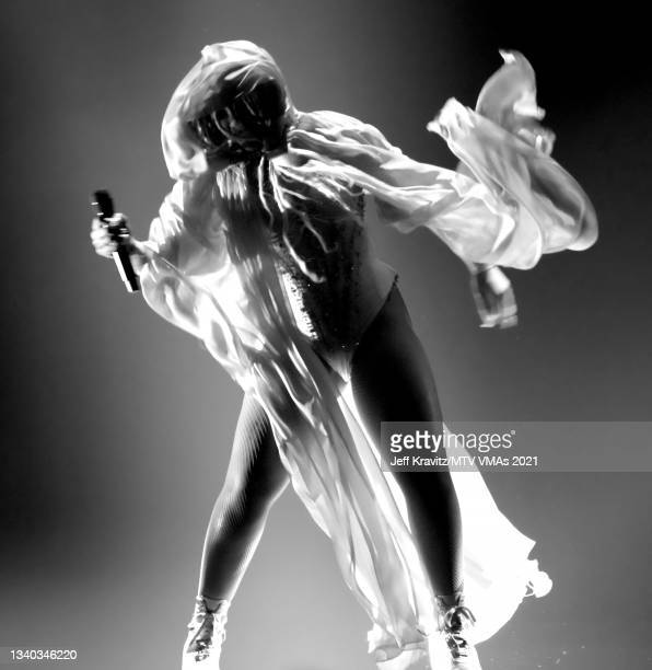 Chloe Bailey performs onstage during the 2021 MTV Video Music Awards at Barclays Center on September 12, 2021 in the Brooklyn borough of New York...