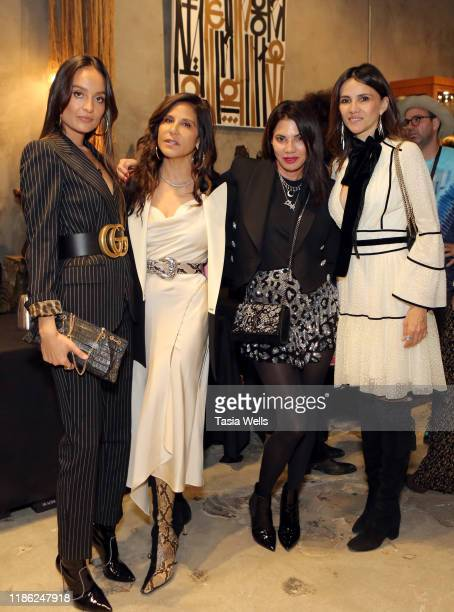 Chloe Bartoli Laurie Stark Juli Sweet and Goya Toledo attend Brooklyn PR in collaboration with Church Boutique present a trunk show celebrating...