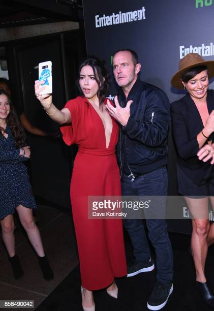 Chloe Bennet and Clark Gregg attend Hulu's New York Comic Con After Party at The Lobster Club on October 6 2017 in New York City