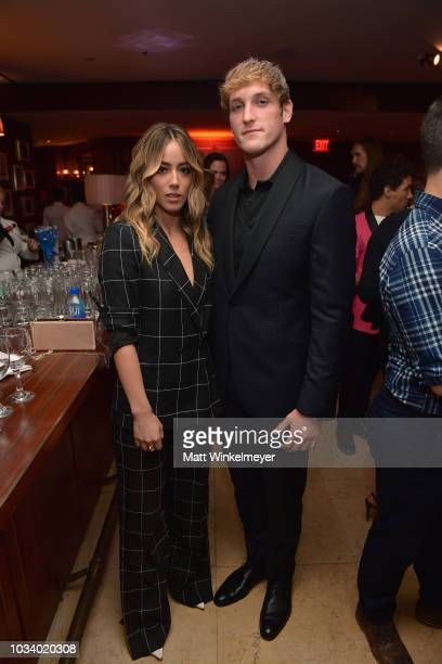Chloe Bennet and Logan Paul attend the 2018 PreEmmy Party hosted by Entertainment Weekly and L'Oreal Paris at Sunset Tower on September 15 2018 in...